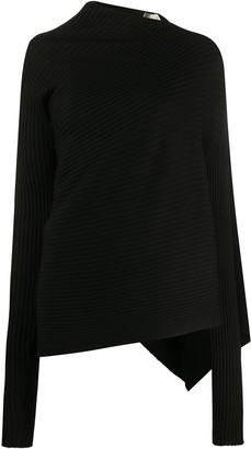 Marques Almeida Marques'Almeida asymmetric ribbed knit jumper