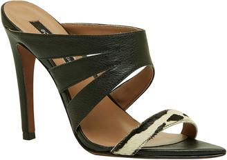 BCBGMAXAZRIA Alexa Leather & Haircalf Sandal