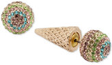 Betsey Johnson Gold-Tone Pavé Ice Cream Cone Earring Jackets