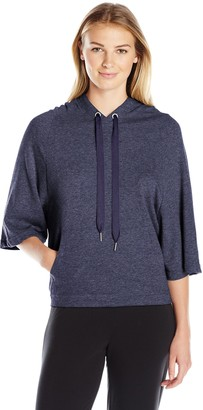 2xist Women's French Terry Cape Hoodie Sweater