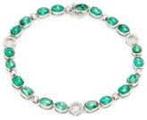 Amrapali 18K White Gold, Emerald & 0.43 Total Ct. Diamond Bracelet