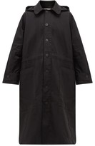 Toogood - Hooded Cotton-ripstop Trench Coat - Mens - Black