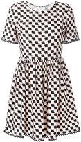 Kenzo printed full skirt dress - women - Silk - 38