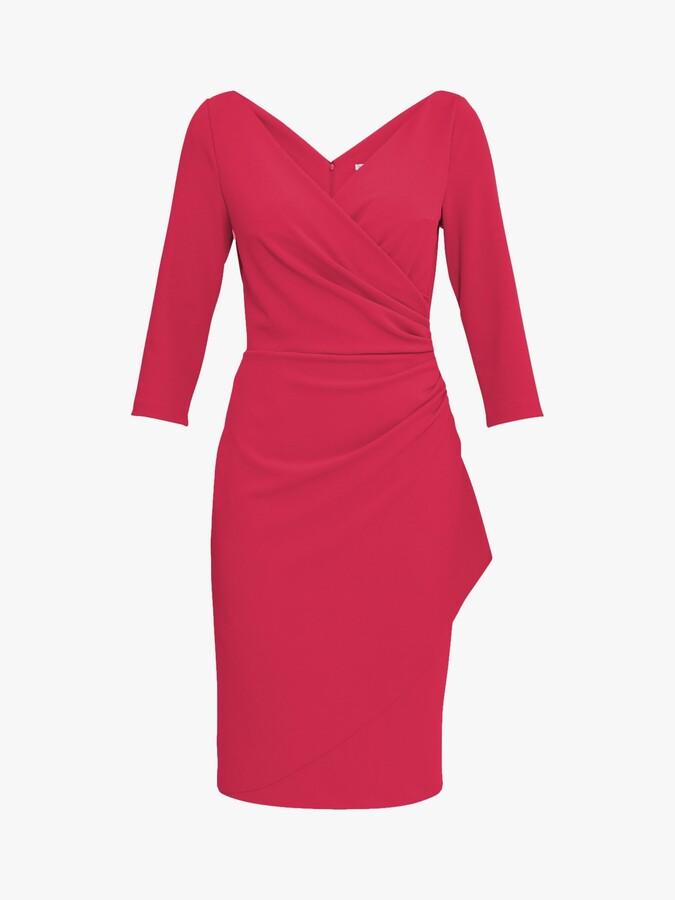 Thumbnail for your product : Gina Bacconi Keelia Crepe Wrap Dress