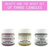 Beauty and the Beast Set of 3 Candles | Adorable Size Disney Candle