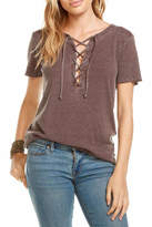 Chaser Vintage Lace Up Tee