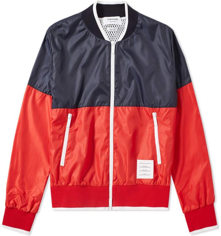 Thom Browne Bi-Colour Bomber Jacket