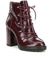 GB Rock-Fest Patent Leather Lace-Up Hiker Booties