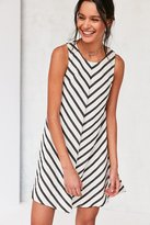 Cooperative Mitered Striped Swing Dress