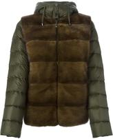 P.A.R.O.S.H. 'Quarter' fur panel padded jacket