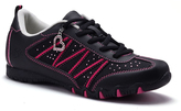 Black & Fuchsia Heart Athletic Sneaker