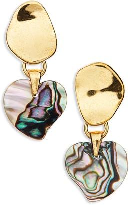 Lizzie Fortunato Abalone Heart Drop Earrings