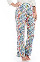 Sleep Sense Feather-Print Flannel Sleep Pants