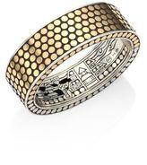John Hardy Dot 18K Yellow Gold & Sterling Silver Cuff Bracelet