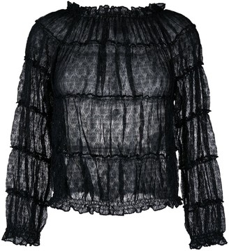 Missoni Tiered Sheer Shirt