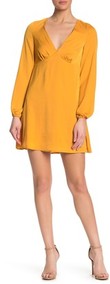 BCBGeneration Satin Long Sleeve Mini Dress