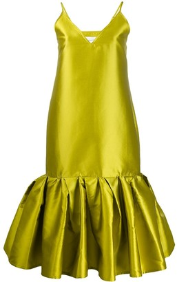 Marques Almeida Satin Drop Waist Dress