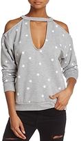 Honey Punch Cold-Shoulder Star Sweatshirt