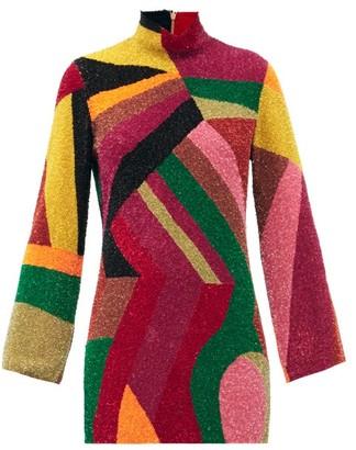 Ashish Sequinned Abstract Mini Dress - Multi
