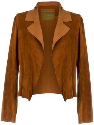 Zut London Suede Leather Classic Short Jacket - Honey
