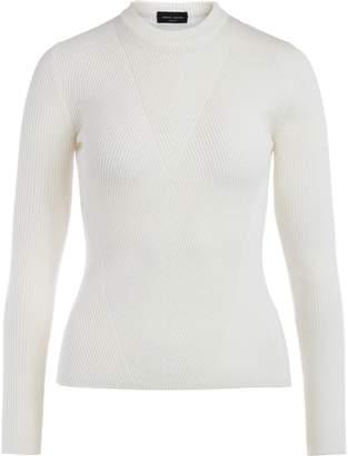 Roberto Collina Ecru Sweater With Ribbed Motifs