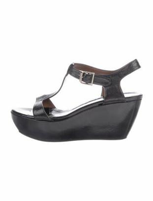 Marni Vintage Patent Leather T-Strap Sandals Black