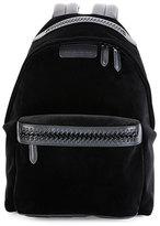 Stella McCartney Falabella Go Medium Velvet Backpack, Black
