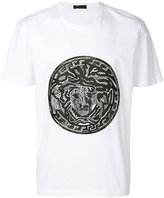 Versus leather Medusa logo T-shirt