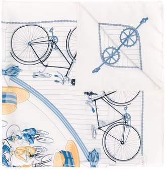 Hermes Pre-Owned 1990's bicycles print scarf
