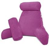 "Velvet Backrest Pillow Nestl Bedding Color: Mocha Light Brown, Size: 22"" H x 36"" W x 13"" D"
