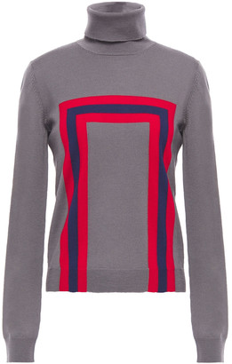 Stella Jean Intarsia Wool Turtleneck Sweater