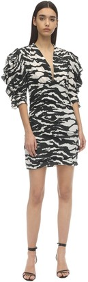 Isabel Marant Farah Printed Crepe De Chine Mini Dress