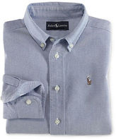 Ralph Lauren Stripe Oxford Shirt With Polo Player