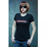 Discovery The Devils Ride Fastboyz Red Logo Women's T-Shirt - Black