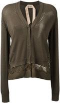 No.21 lace-detail cardigan - women - Silk/Polyester/Acetate/Viscose - 38