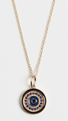 Sydney Evan 14k Large Pave Evil Eye Necklace