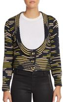 M Missoni Mixed Stripe Cropped Cardigan