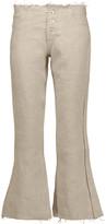 Marques Almeida Marques' Almeida Frayed linen bootcut pants