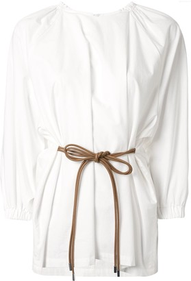 Muller of Yoshio Kubo Plain Tie-Waist Blouse