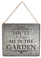 Marks and Spencer Slogan Garden Sign