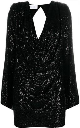 Nervi Sequined Draped Cocktail Dress