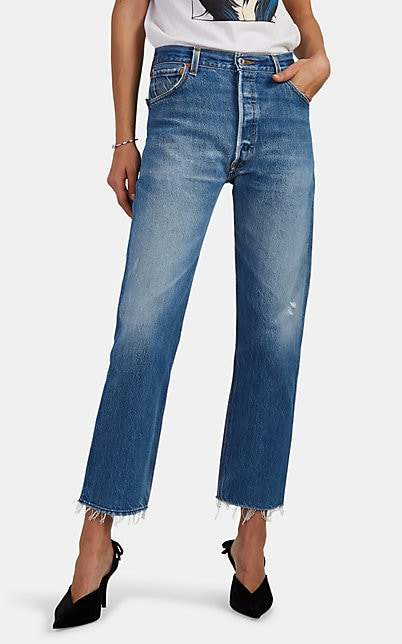 RE/DONE Women's High-Rise Stovepipe Crop Levi's® Jeans - Blue