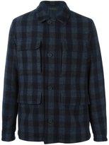 Z Zegna tartan shirt-style coat