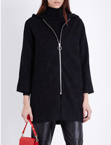 Mo&Co. Hooded jacquard coat