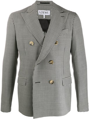 Loewe houndstooth double-breasted blazer