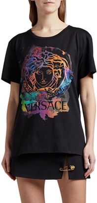 Versace Cotton Rainbox Medusa Graphic Tee