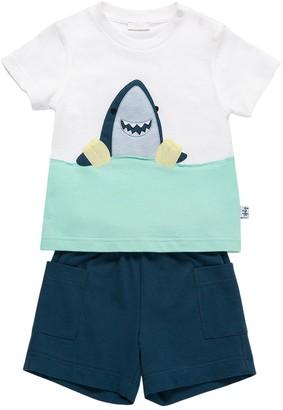 Il Gufo Printed Cotton T-Shirt & Shorts