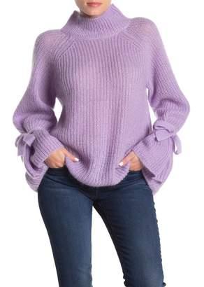Naadam Umbriel Mock Neck Tie Sleeve Sweater