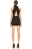 Kenzo Cotton Romper in Black
