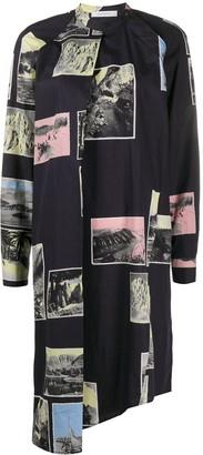 Cédric Charlier Postcard Print Dress